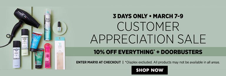 Customer Appreciation Sale 10% Off